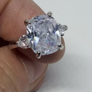 .925 STAMPED Lg White Sapphire Ring